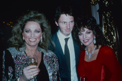 Jackie Collins, Bill  Collins and Joan Collins
