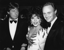 Bill Wiggins, Joan Collins and Christopher Cazenove